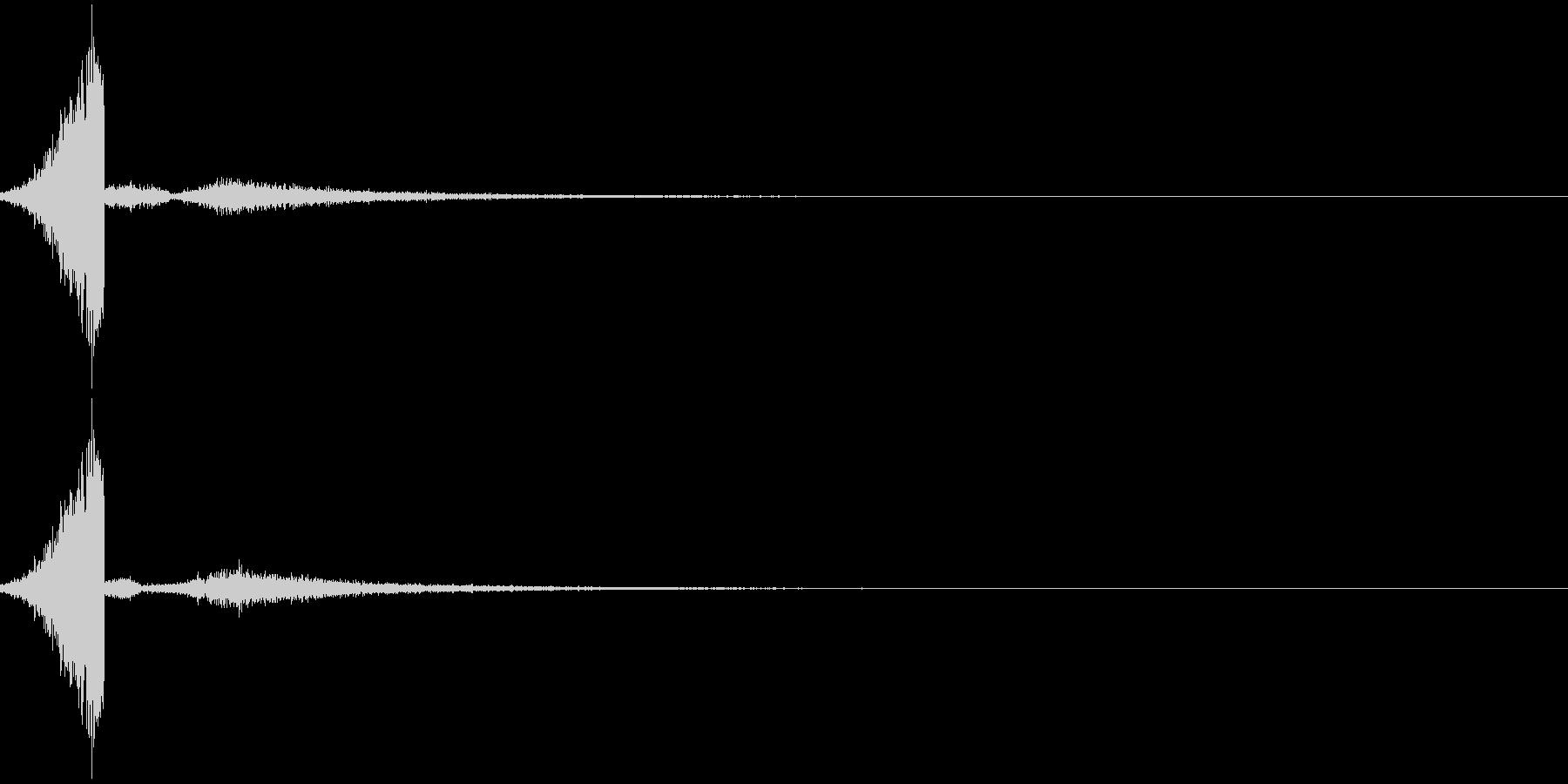 シュッ(スライド音)の未再生の波形