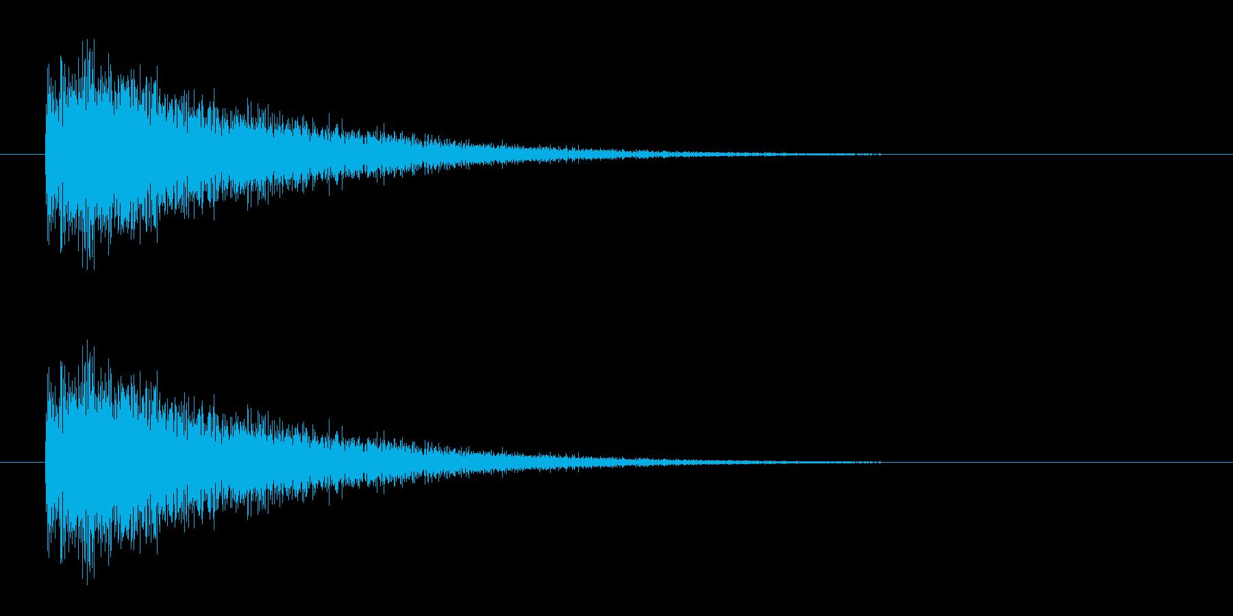レーザー音-09-3の再生済みの波形