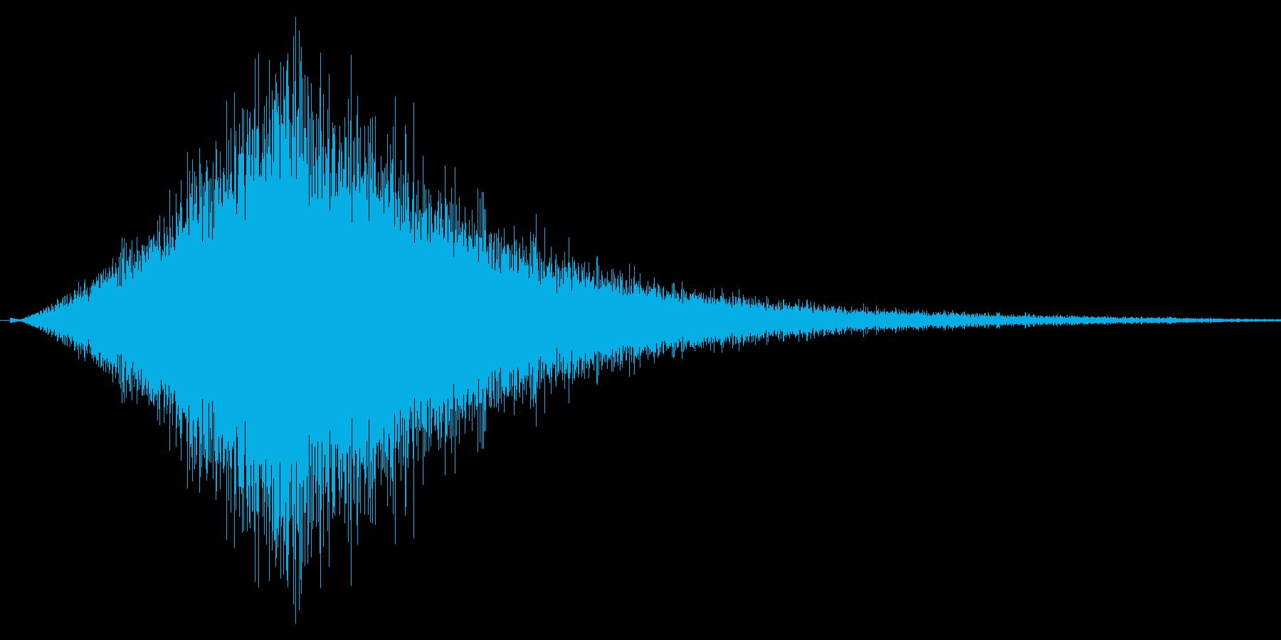 シュウォォ。ジャンプ・舞い降りる音の再生済みの波形