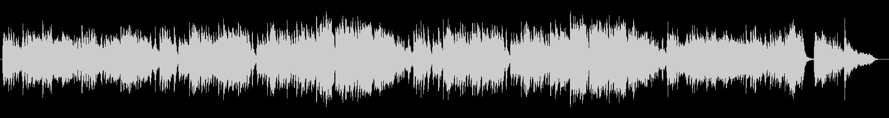 少し寂しげなピアノのスローミュージックの未再生の波形