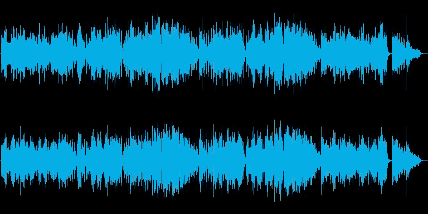 少し寂しげなピアノのスローミュージックの再生済みの波形