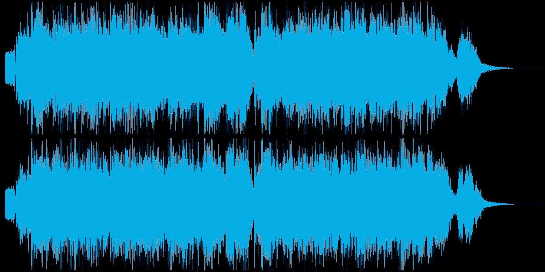 車のCMで流れるパワフルな曲の再生済みの波形