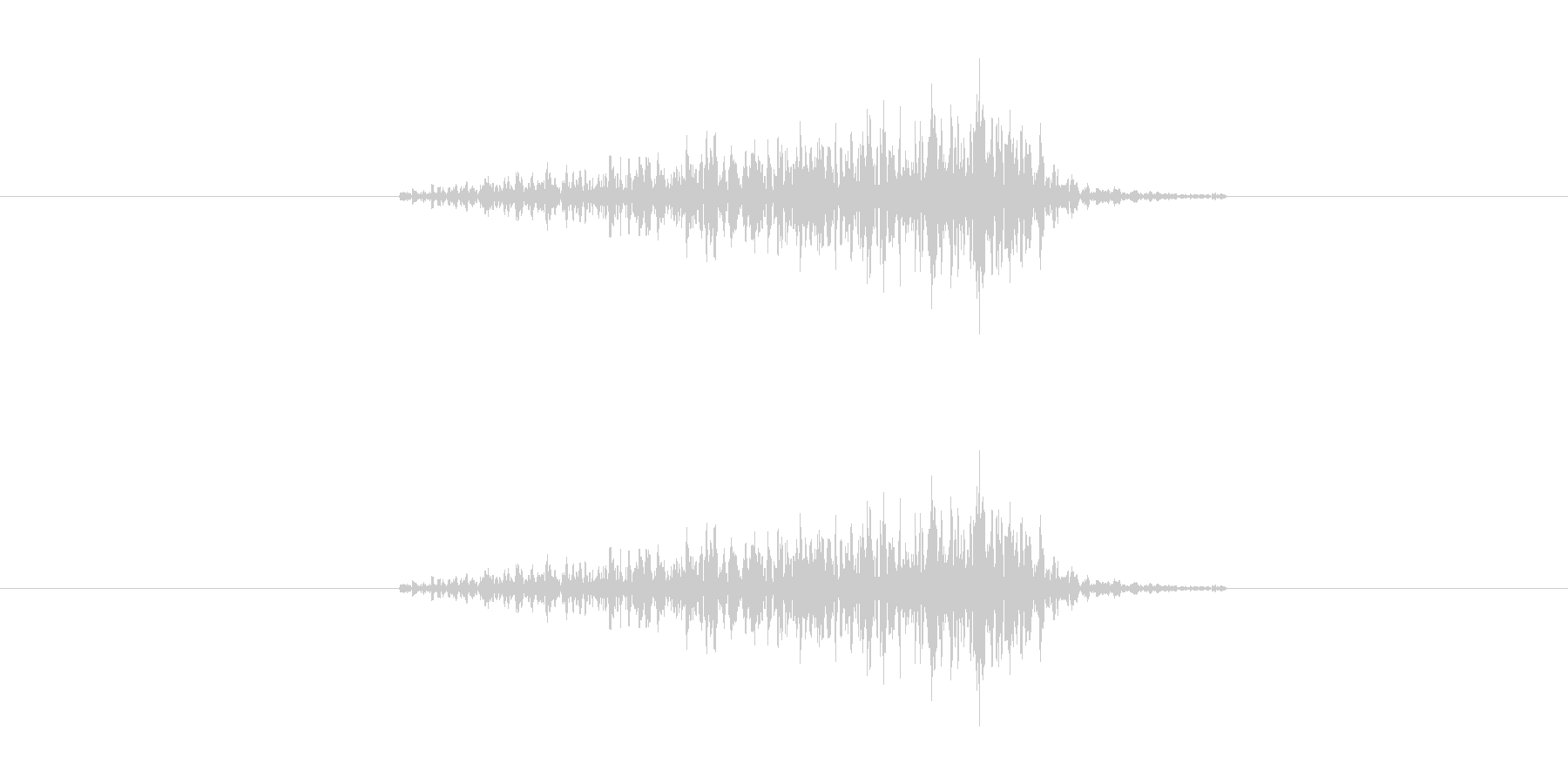 サーッ(ドアや引き出しの開閉音、長い)の未再生の波形
