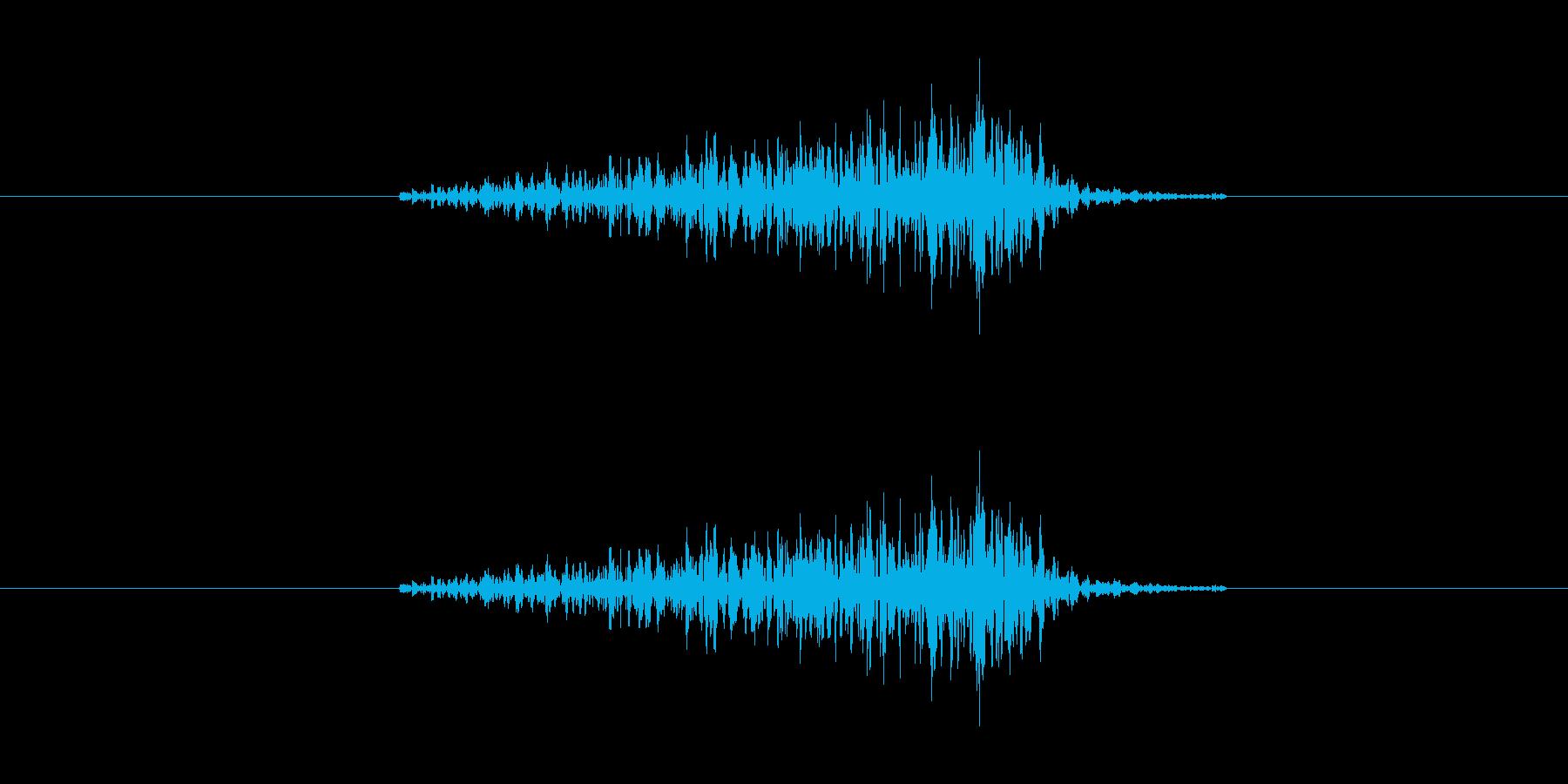 サーッ(ドアや引き出しの開閉音、長い)の再生済みの波形