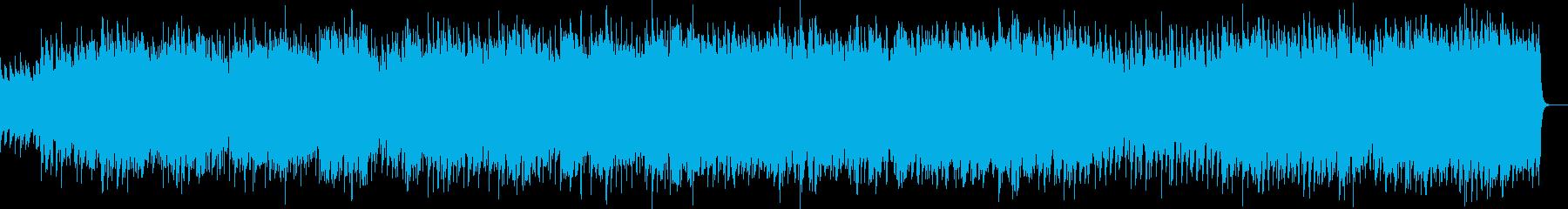 ほのぼのしたウクレレとピアノのBGMの再生済みの波形