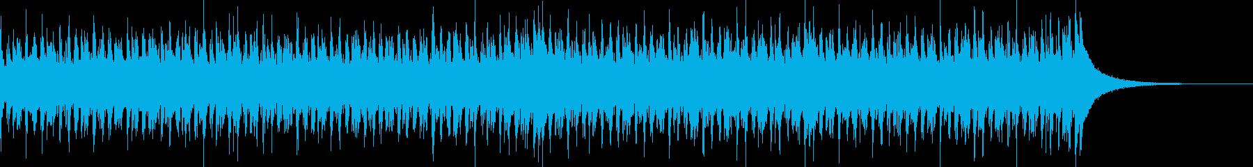 ショートBGM、ハウスポップの再生済みの波形