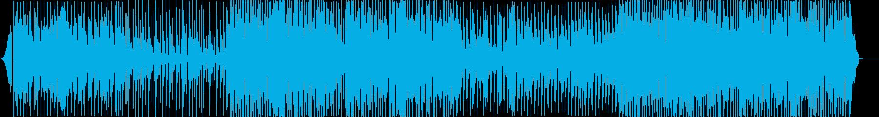 クールなトロピカルハウスEDMの再生済みの波形