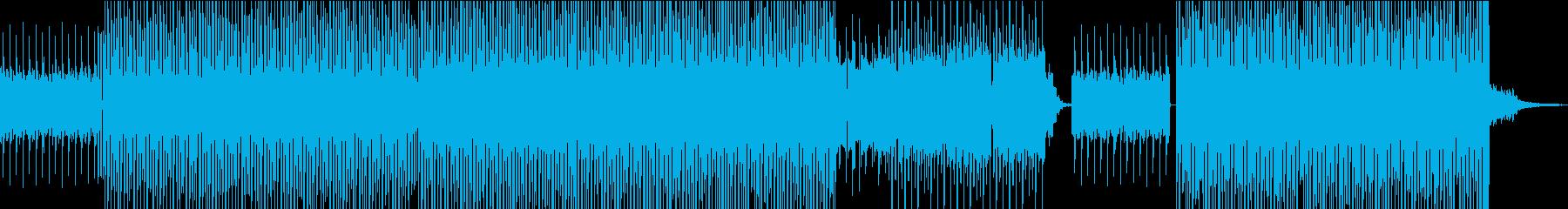 ポップなイメージのハウスの再生済みの波形
