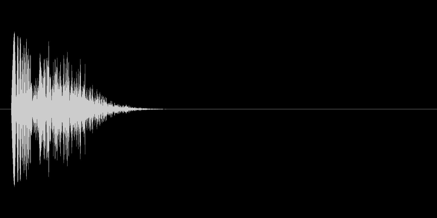 ポユィ(選択音)の未再生の波形