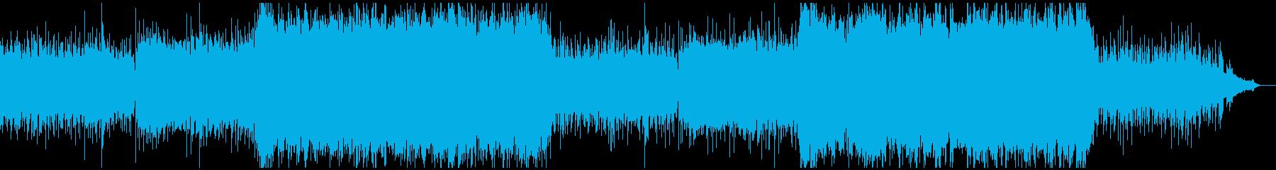 ストリングスの壮大なヒーリングの再生済みの波形