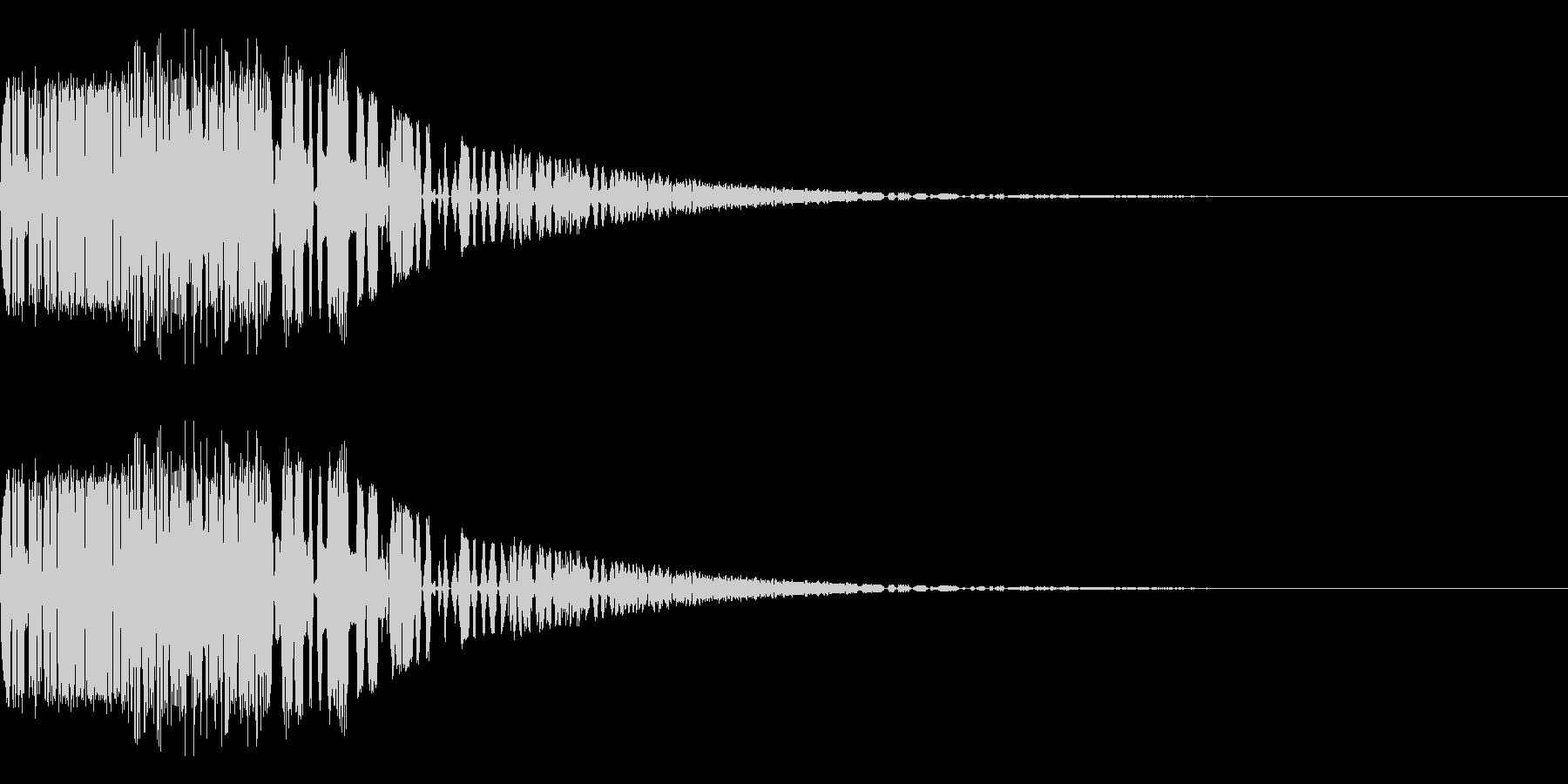 バシャッ07(水・液体系のアクション音)の未再生の波形