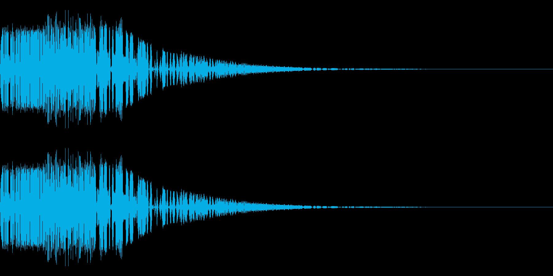 バシャッ07(水・液体系のアクション音)の再生済みの波形