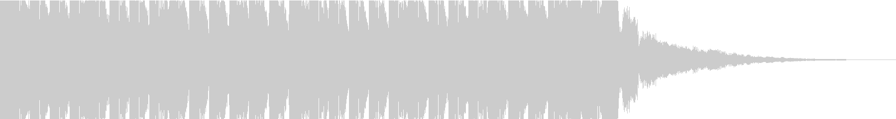 K-Popクラブ系ハードなEDMジングルの未再生の波形