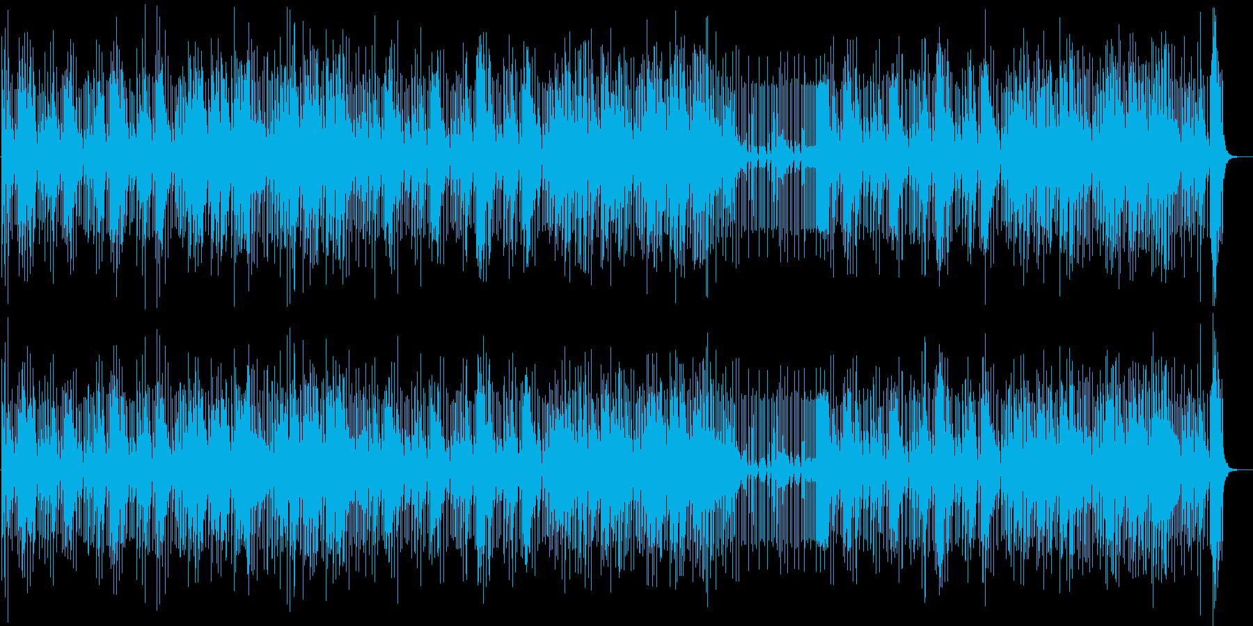 ヴァイブとパーカスの涼しいラテンジャズの再生済みの波形