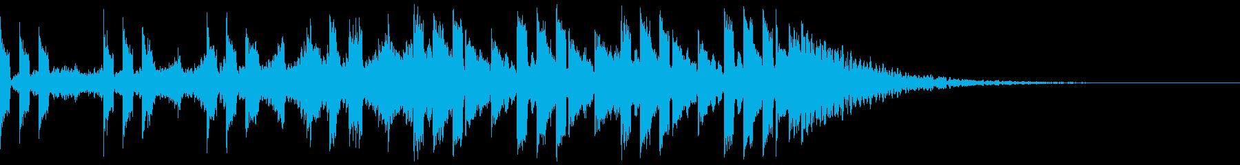 トランス風ジングルの再生済みの波形