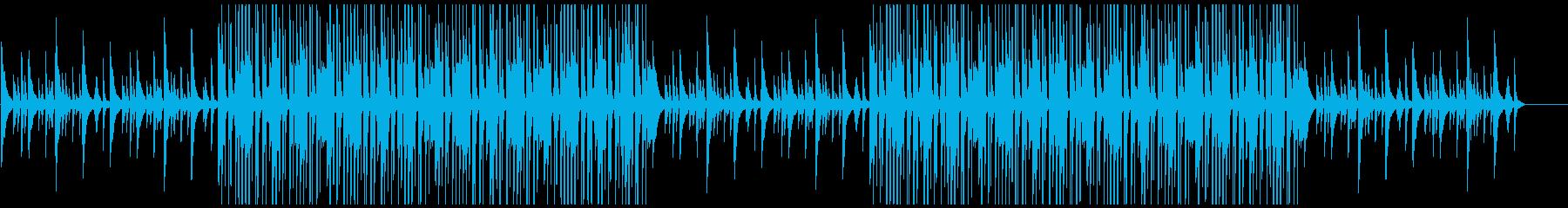 寂しく切ないLo-Fiヒップホップビートの再生済みの波形
