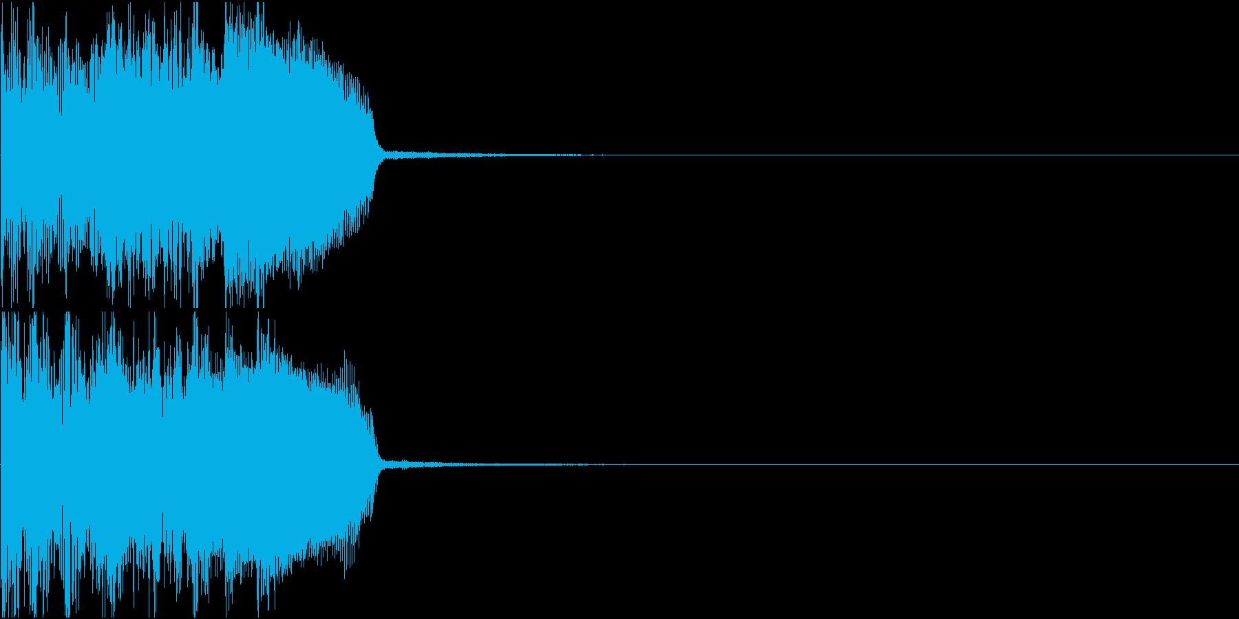シーン移行ロックフレーズの再生済みの波形