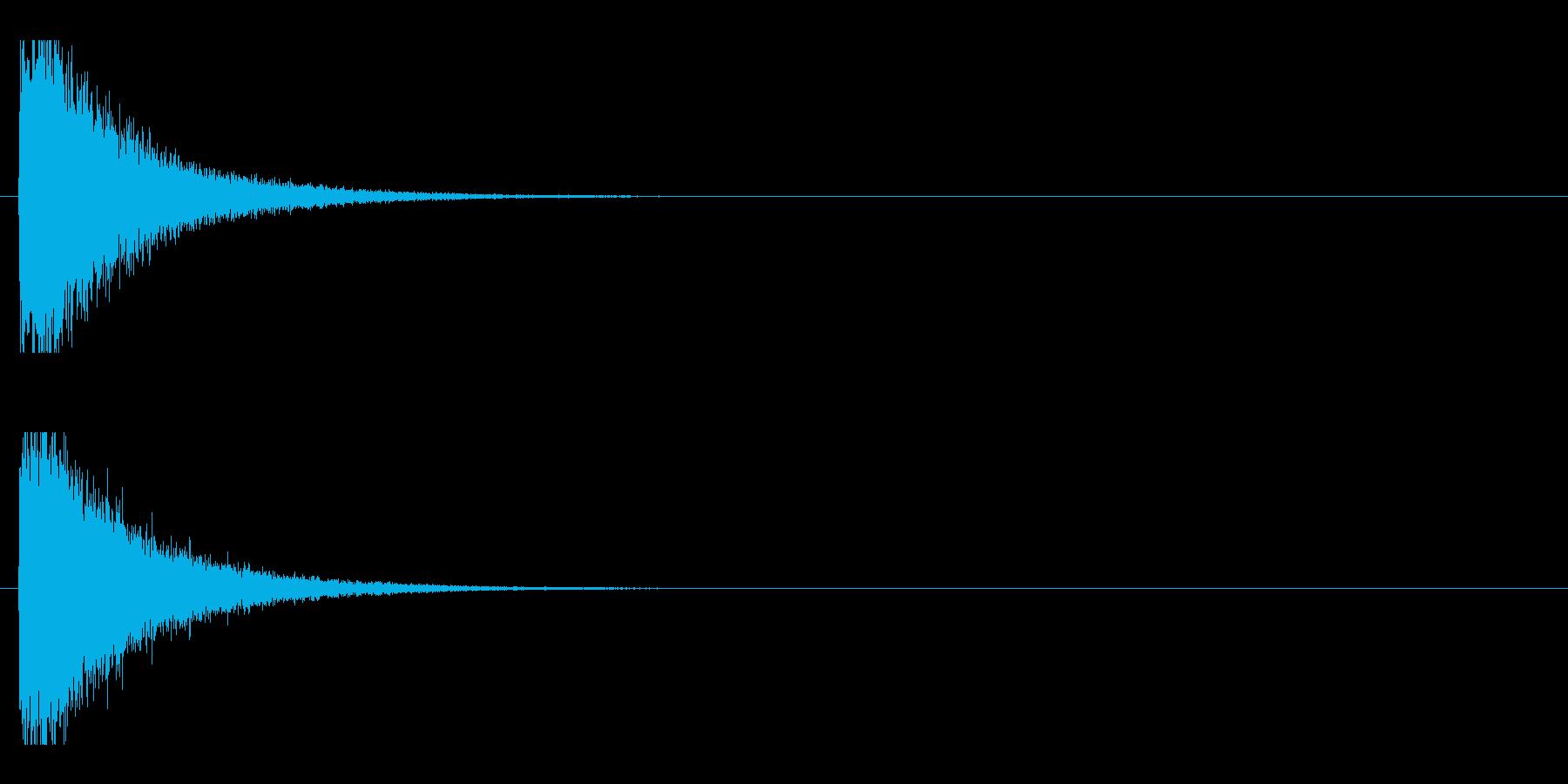 レーザー音-92-1の再生済みの波形