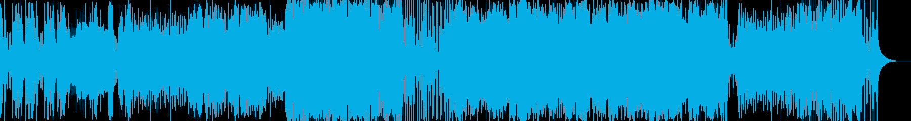 壮大な和風ロック曲の再生済みの波形