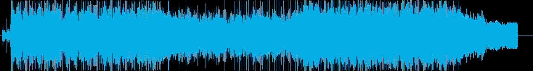 オープニングに合う明るいビート曲の再生済みの波形