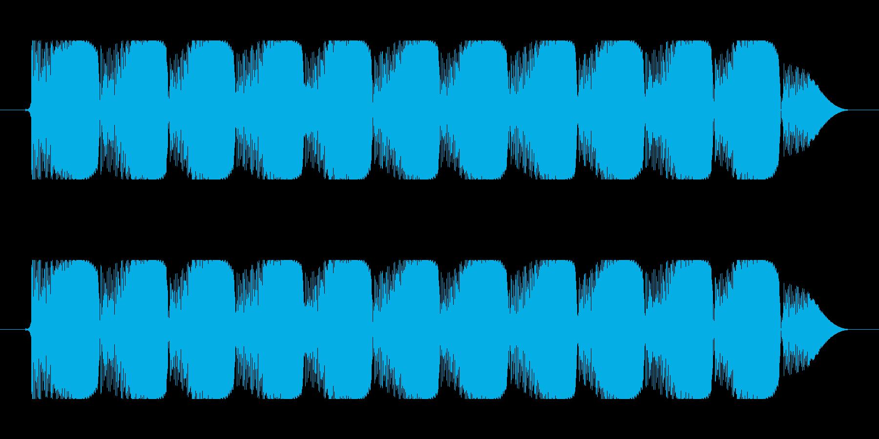 ビーム効果音 90b コミカルな連射 ビの再生済みの波形