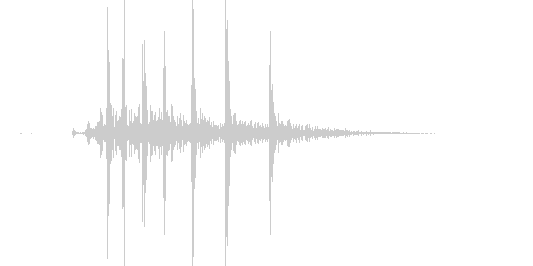 キリキリッ(ぜんまい、回す、単発)の未再生の波形