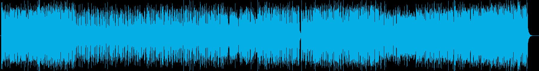元気なシンセサイザーポップサウンドの再生済みの波形
