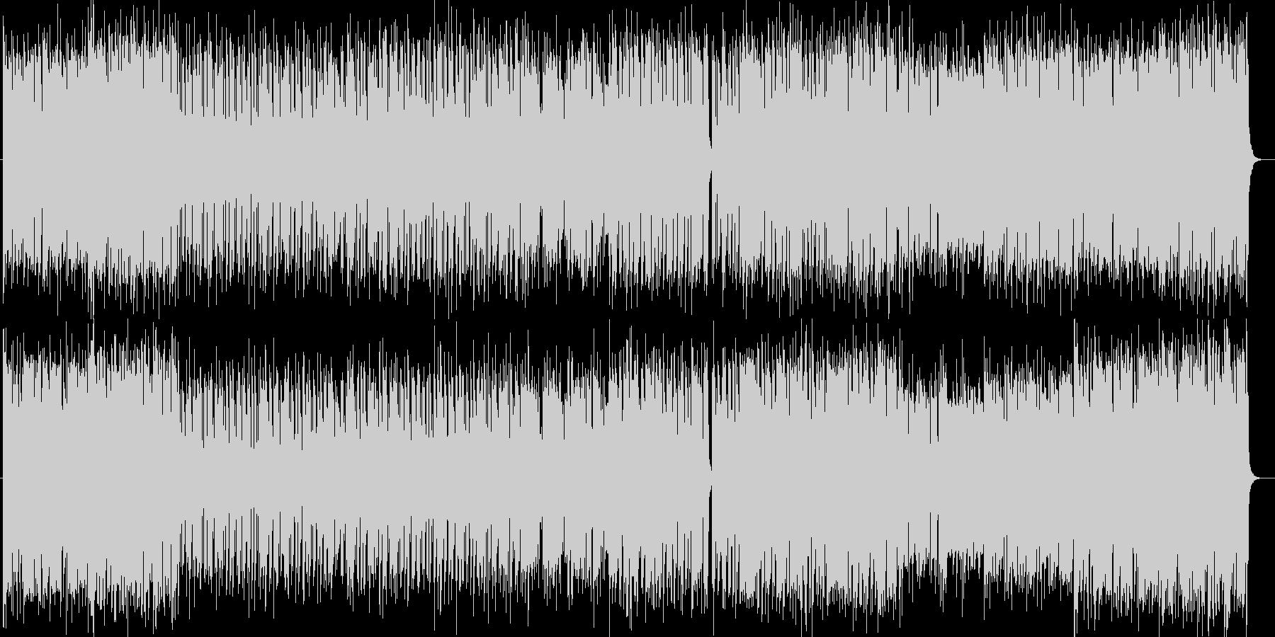 元気なシンセサイザーポップサウンドの未再生の波形