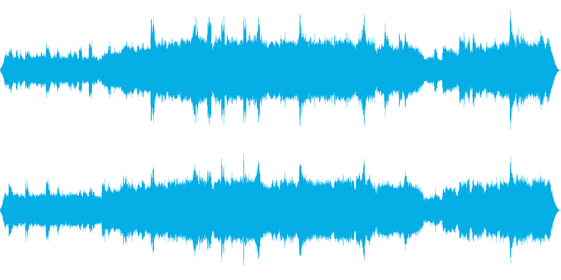 [ASMR]昆虫などが鳴いている森_02の再生済みの波形