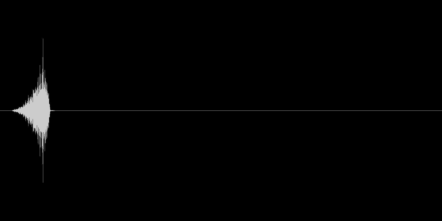 シュッ(攻撃ミス、スカ、外す、空振り)の未再生の波形