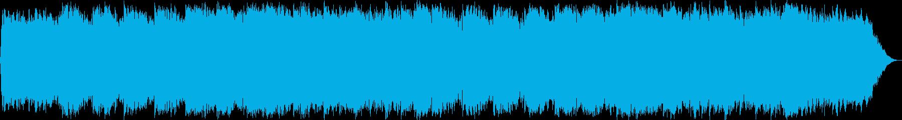 壮大で神秘的なベルとシンセが響くインストの再生済みの波形
