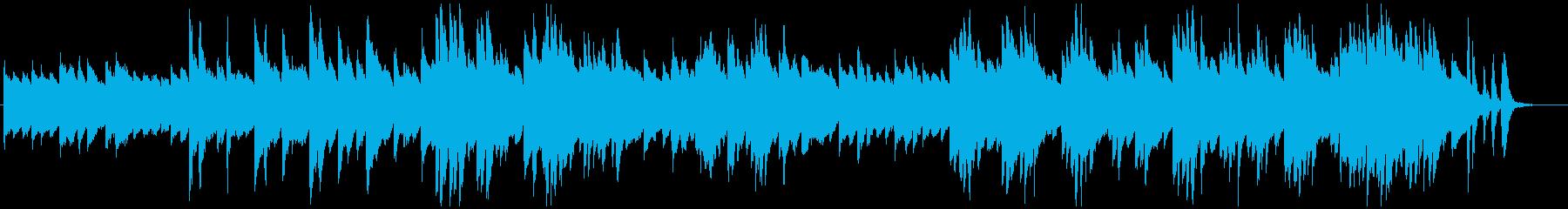 印象派風のピアノソロの再生済みの波形