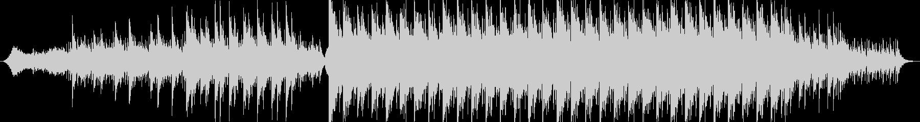 静かに始まり徐々に壮大に盛り上がるBGMの未再生の波形