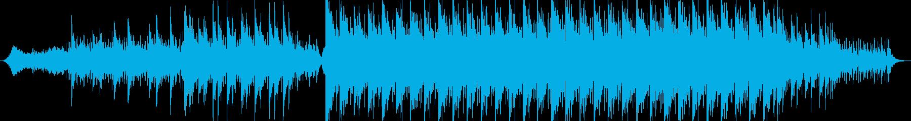 静かに始まり徐々に壮大に盛り上がるBGMの再生済みの波形