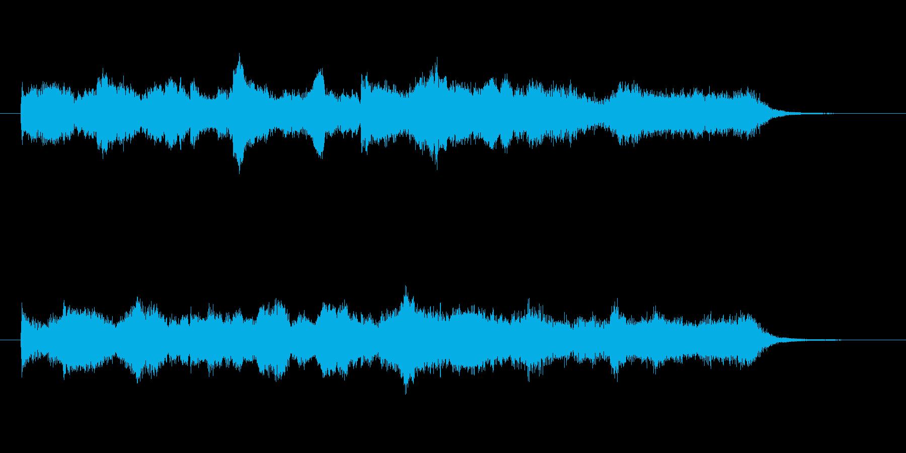 軽くスキップしたくなる様な明るいメロディの再生済みの波形