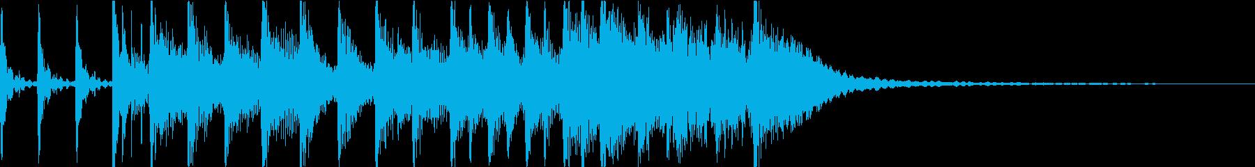 生演奏ギター ロックジングルの再生済みの波形
