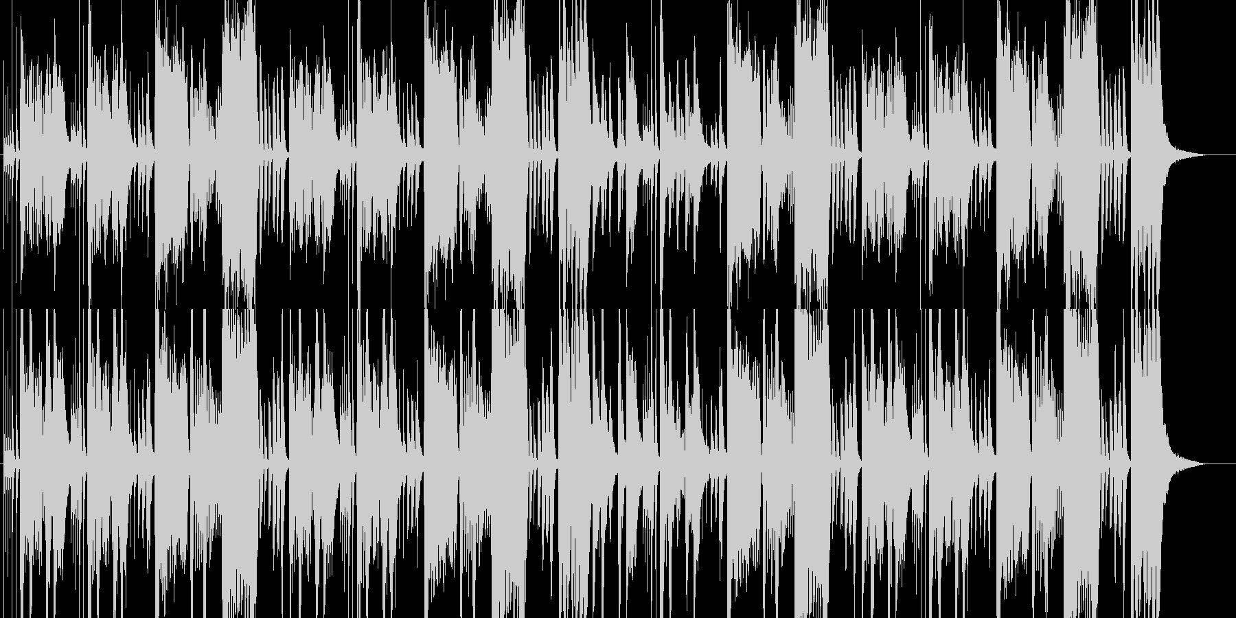 コミカルで楽しげなオーケストラの未再生の波形