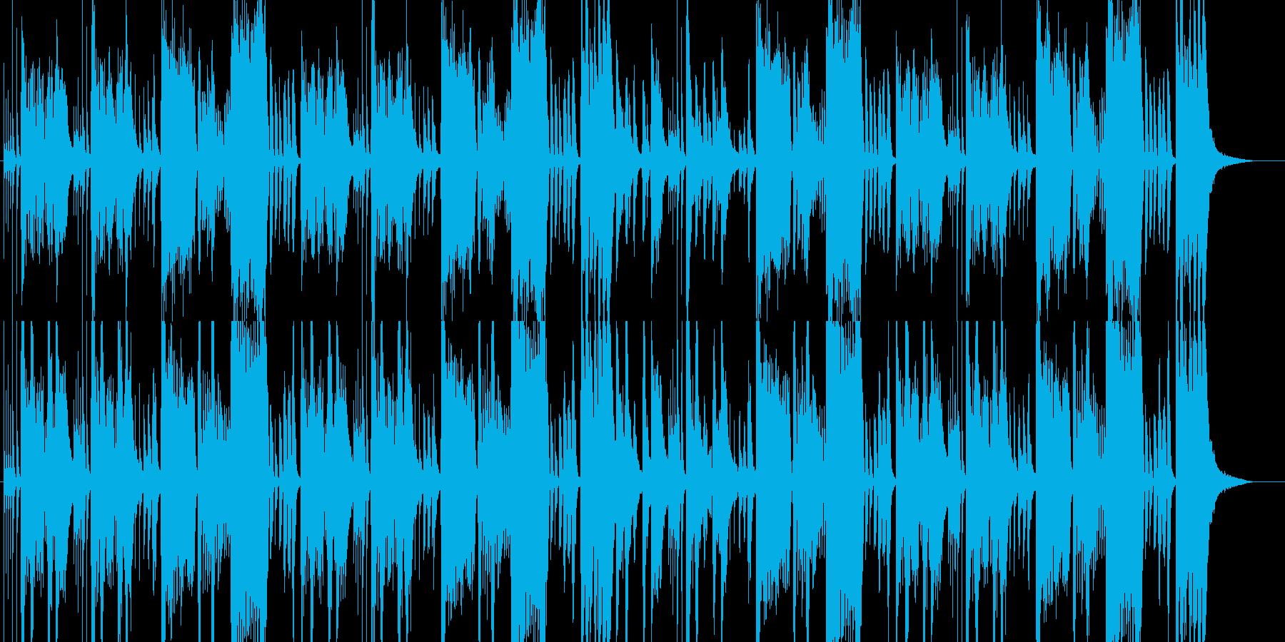 コミカルで楽しげなオーケストラの再生済みの波形