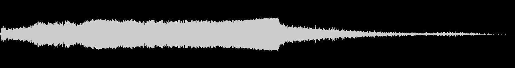丸鋸1カットの未再生の波形