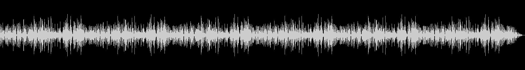 落ち着いたジャズピアノトリオのBGMの未再生の波形