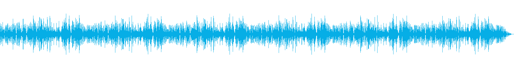 落ち着いたジャズピアノトリオのBGMの再生済みの波形