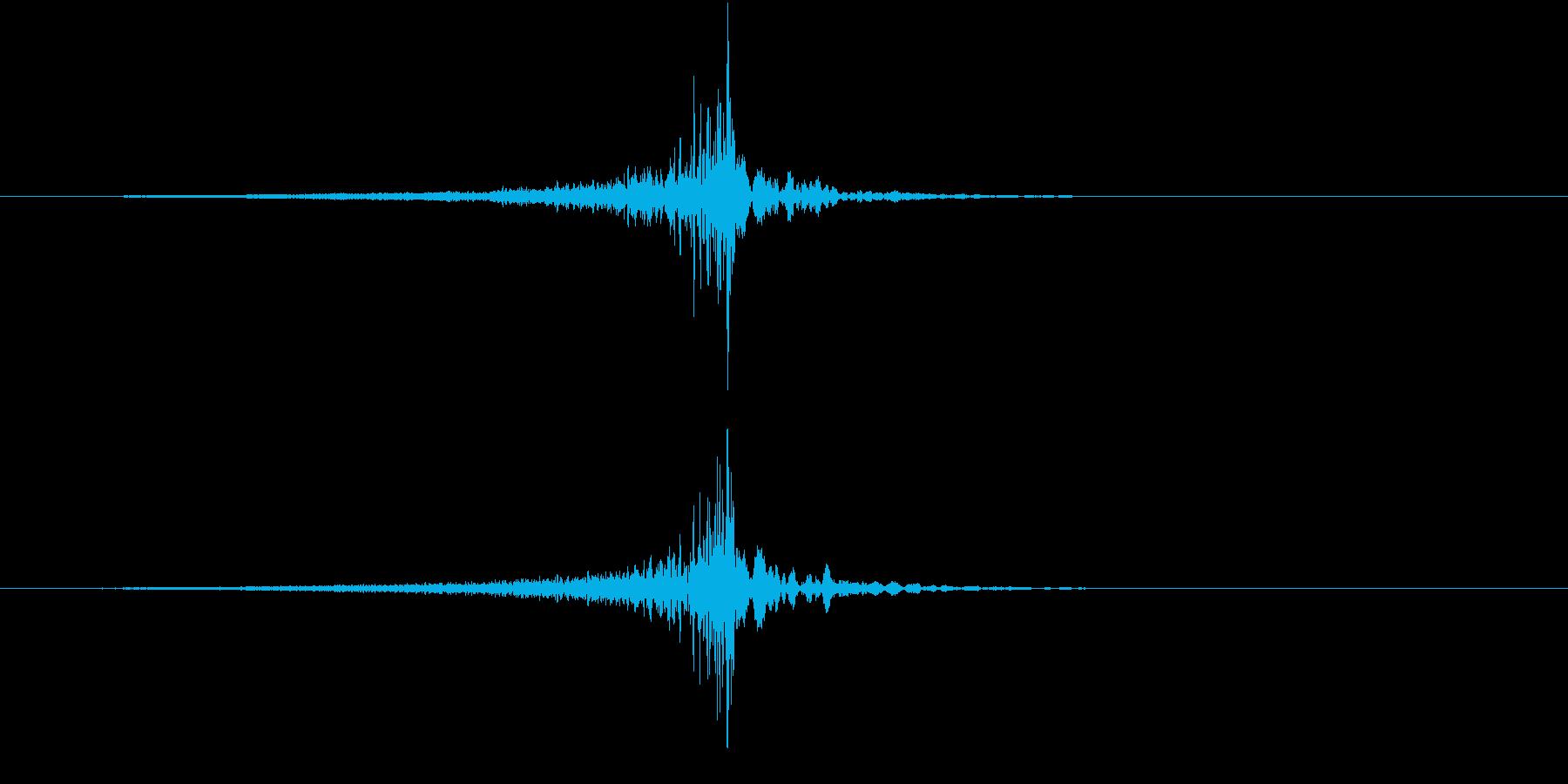 魂の音の再生済みの波形