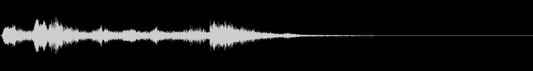 リコーダージングル、下るメロディの未再生の波形
