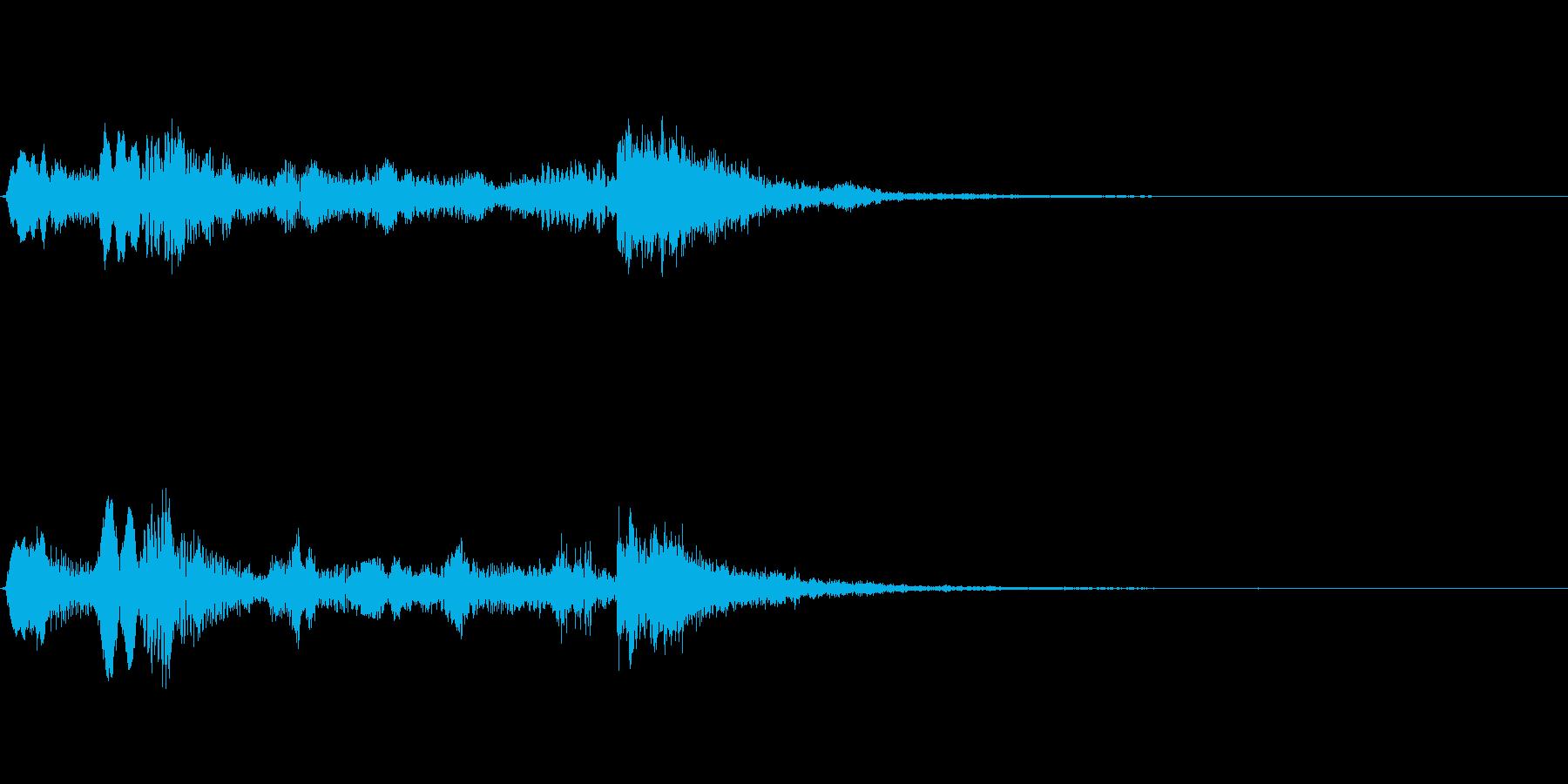 リコーダージングル、下るメロディの再生済みの波形
