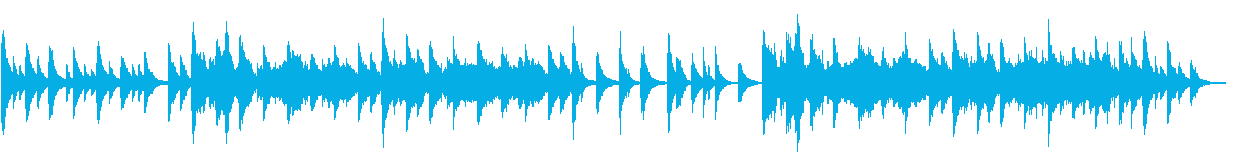 幻想的なピアノ4重奏の再生済みの波形