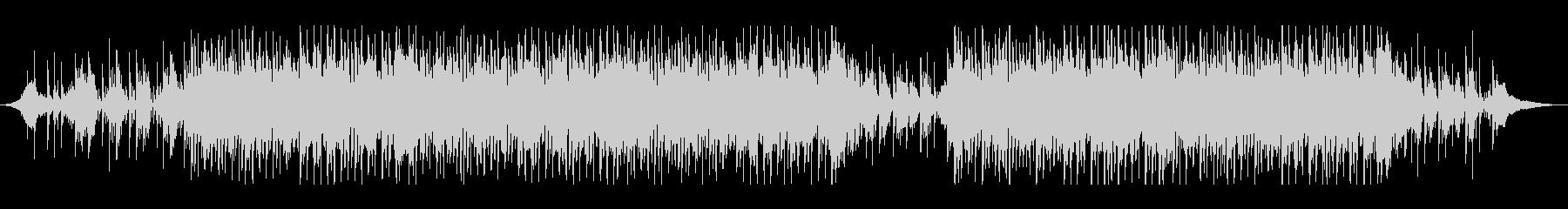 ミドルテンポのスリリングなBGMの未再生の波形