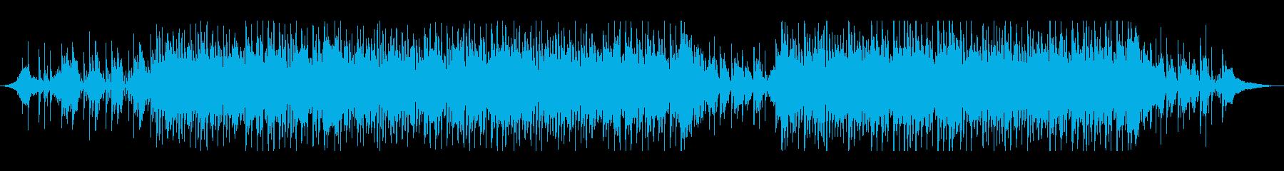 ミドルテンポのスリリングなBGMの再生済みの波形