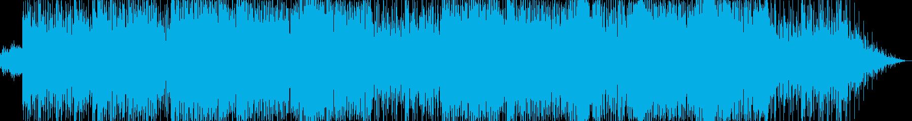 軽快なダンスフュージョンの再生済みの波形