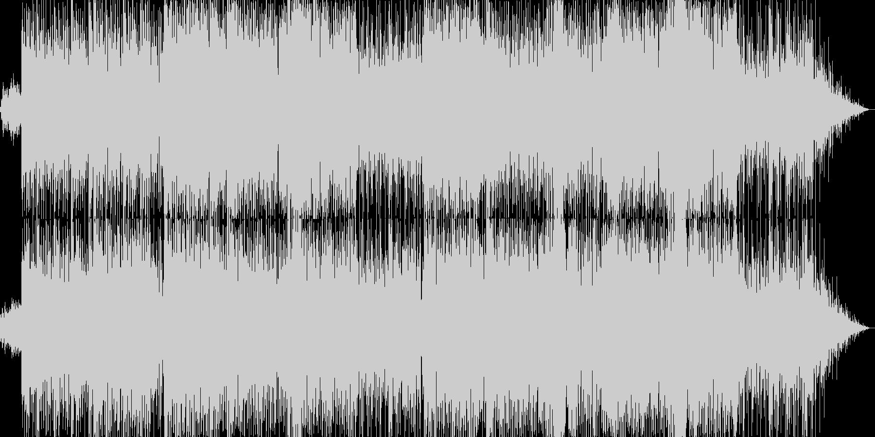 軽快なダンスフュージョンの未再生の波形