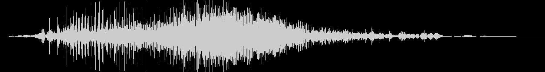 ジー(ジッパーの音※やや速め)の未再生の波形